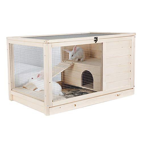 Perreras Cajones Casa De Mascotas Jaula para Conejos Jaula De Cerdos Holandesa Dormitorio Doméstico Jaula De Erizo De Madera Balcón Exterior Jaula para Conejos Casa De Mascotas Puede Soport