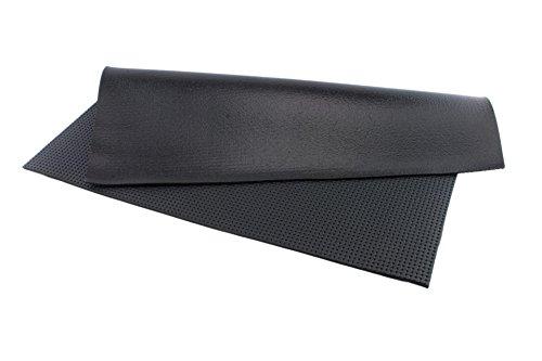Polstermaterial Matte, Schwarz mit Profil, 70 cm breit, Länge: 100 cm, ca. 2,5 mm dick