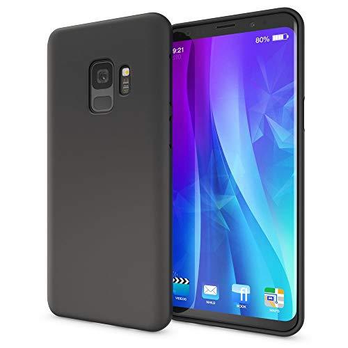 NALIA Cover Neon compatibile con Samsung Galaxy S9, Custodia Protezione Ultra-Slim Neon Case Protettiva Morbido Telefono Cellulare in Silicone, Gomma Smartphone Bumper Sottile, Colore:Nero