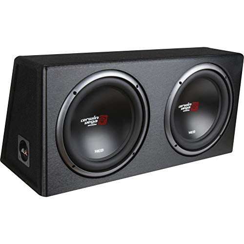 Cerwin-vega Mobile XE10DV XED Series XE10DV Dual 10-Inch Subwoofers in Loaded Enclosure, Black (CERXE10DV)