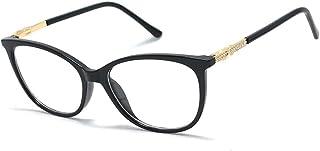 Óculos Armação Feminino Retangular Detalhe Nas Hastes Em Strass Yf-8024 Preto