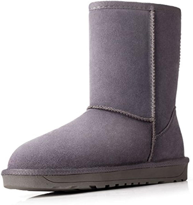 HOESCZS Stiefel Martin Classic Leather Snow Stiefel Female Verdickung In Der Tube, Um Warme Damen Baumwollschuhe Zu Halten  | Lebensecht