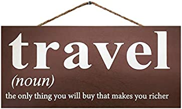 JennyGems Travel Wood Sign | Travel The Only Thing You Will Buy That Makes You Richer | Travel Decor Wall Hanging | Travel Themed Home Accent | Travel Room | Travel Decoration