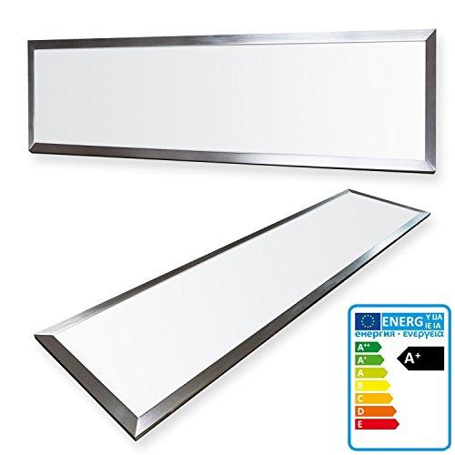 Preisvergleich Produktbild LEDVero 1er Set 120x30cm Ultraslim LED Panel 36W,  3000lm,  4500K Deckenleuchte mit Befestigungsclips und EMV2016 Trafo -Neutralweiß- Energieklasse A