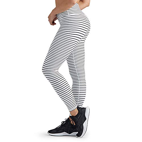 Glyder High Power Legging - High Waisted Soft Leggings for Women - B&W Stripe