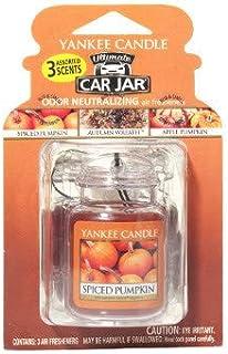 Yankee Candle Fall Favorites 3-packs Car Jar Ultimate (Apple Pumpkin, Autumn Wreath, Spiced Pumpkin)