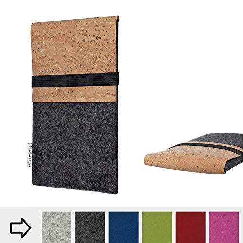 flat.design Handy Hülle SAGRES für Shift Shift6m Made in Germany Handytasche Filz Tasche Schutz Case fair Kork