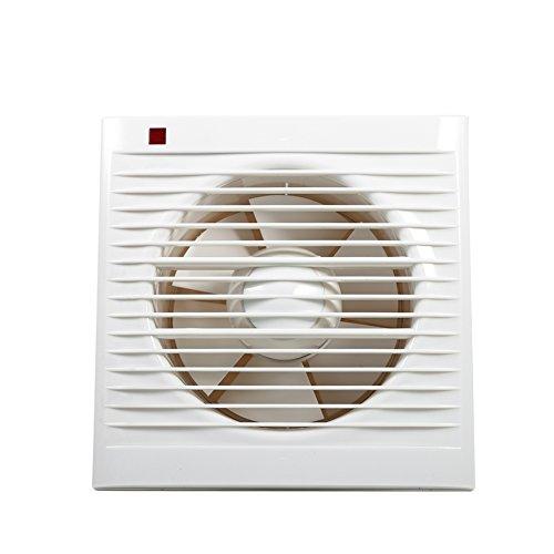 Ventilador Extractor de Baño, Ventilador Extractor de Pared Silencioso, Extractor de Ventilación para Cocina y Baño (6