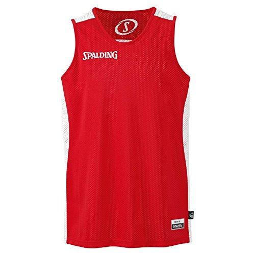 Spalding Essential Reversible Camiseta de Juego, Hombre, Rojo/Blanco, S