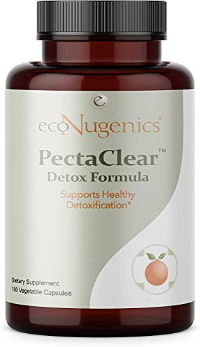 ecoNugenics – PectaClear – 180 Capsules | Professionally Formulated to Support Healthy Detoxification| Provides Comprehensive Support Against Environmental Toxins | Safe, Gentle & Effective