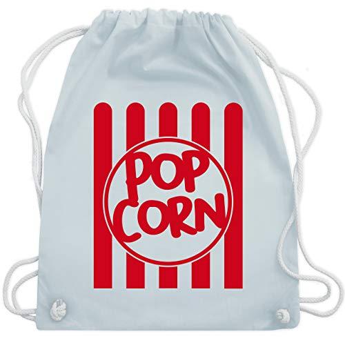 Shirtracer Karneval & Fasching - Popcorn Karneval Kostüm - Unisize - Pastell Blau - popcorn - WM110 - Turnbeutel und Stoffbeutel aus Baumwolle