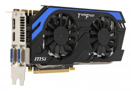 MSI NVIDIA GeForce GTX 660 Ti Power OC Edition Grafikkarte (PCIe 3.0, 2GB DDR5 Speicher, HDMI, DisplayPort)