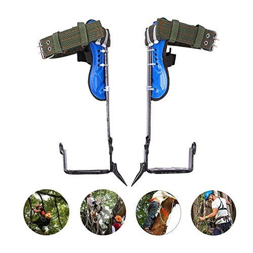 ETSGB rutschfest Baumsteigeisen Kletterhilfen, Klettern Bäume Artefakt, Edelstahl, Einfach Zu Bedienen Für Kommissionierung Obst Jagd Überwachung Klettern,twostraightclaws