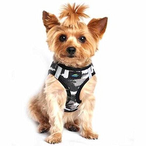 DOGGIE DESIGN American River Dog Harness Camouflage Collection - Gray Camo L