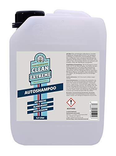 CLEANEXTREME Autoshampoo Konzentrat 1:100-2,3 Liter - Strahlender Glanz & Konservierung - Auto Shampoo mit Wachs zur Autowäsche & Autoreinigung