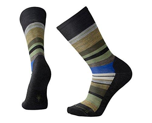 Smartwool Herren Saturnsphere Socken, Schwarz (Charcoal Heather-Light Loden Heather A), X-Large