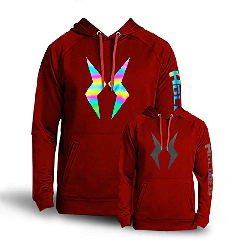 HoloGear Holographic Performance Reflective Hoodie (Red, L)