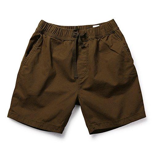 Mesinsefra Herren Cargo-Shorts mit elastischem Bund und Kordelzug - Braun - 46