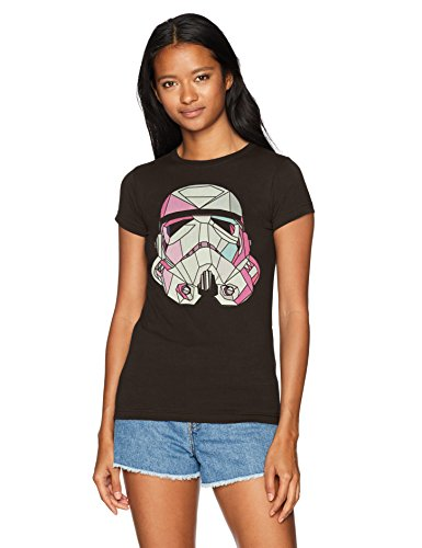 Star Wars Women's Stained Storm Trooper Crew Neck Graphic T-Shirt, Black, XL
