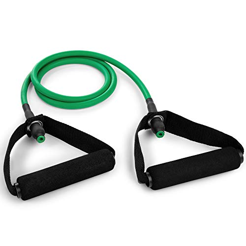 Champion Sports XF Resistance Tube Bands for Men and Women, Light Resistance, Green - Durable Fitness Band for Strength Training, Stretching, Rehabilitation - Premium Home Workout Equipment