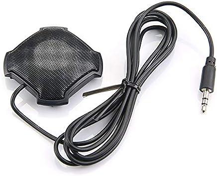 Hnourishy Microfono omnidirezionale Pickup con Microfono da 3,5 mm con Jack Audio a condensatore per Skype VOIP Call Voice Chat - Nero - Trova i prezzi più bassi