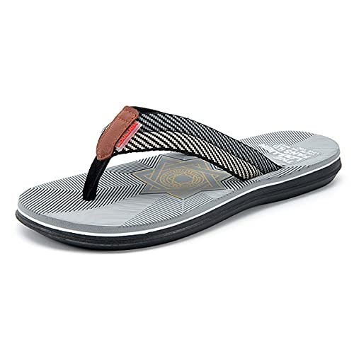 Dakecy Chanclas para Hombre Zapatillas de Playa para Piscina Verano Casual Tanga Zapatillas de Lona Antideslizantes Al Aire Libre Interior Casa Playa Vacaciones de Verano Deslizadores para Caminar