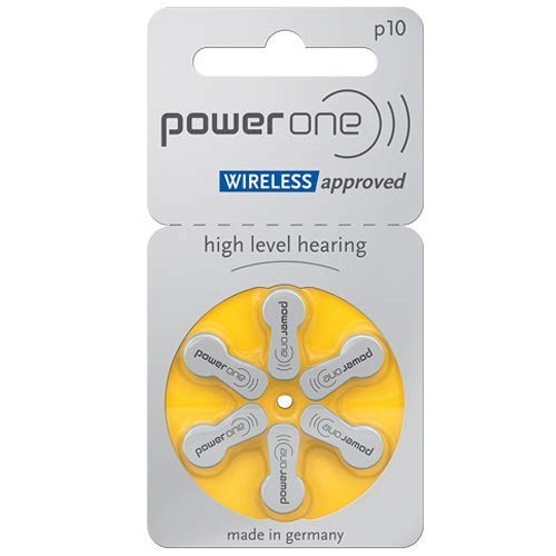 Power One Zinc Air Hearing Aid Batteries, (Yellow), P10, (120 Count)