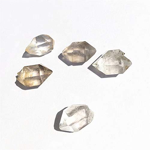Emivery Herkimer Diamond Quartz Crystal Double 5 Pcs