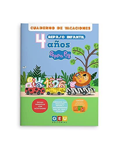 Cuaderno De Vacaciones repaso Infantil niños 4 años Peppa Pig: Actividades sencillas y divertidas   Refuerzo Educación Infantil: Cuadernos Peppa Pig (Repaso 2º Educación Infantil)