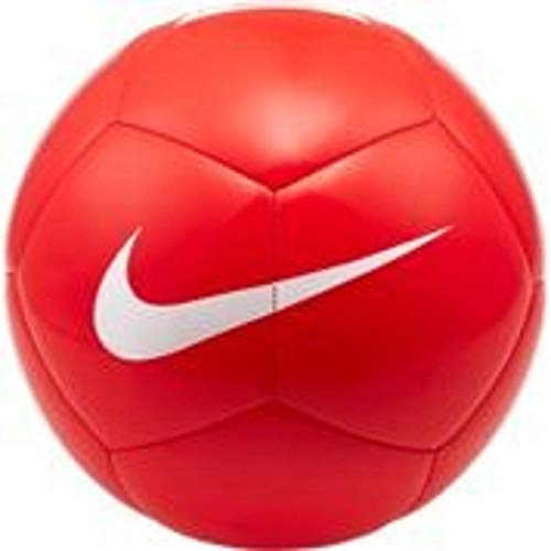 NIKE Pitch Team Soccer Ball Balones de fútbol de Entrenamiento, Unisex-Adult, Bright Crimson/White, 5