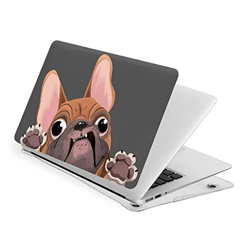 Cartoon French Bulldog Compatible with MacBook Air 13 Inch 2020 2019 2018 New Version A1932 A2179 Case,Plastic Hard Shell Case Cover for Mac Air 13 with Retina Display and Touch Id