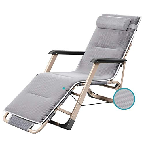 WJXBoos Tumbona reclinable Tumbona Plegable en Gravedad Cero Chaise Longue con Cojines La Playa Exterior soporta hasta 200 kg Gary