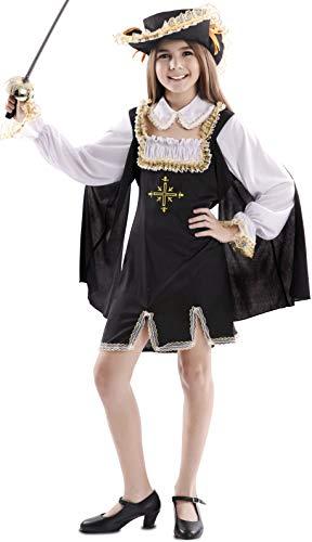 EUROCARNAVALES Disfraz de Mosquetera con Cruz Dorada para niña