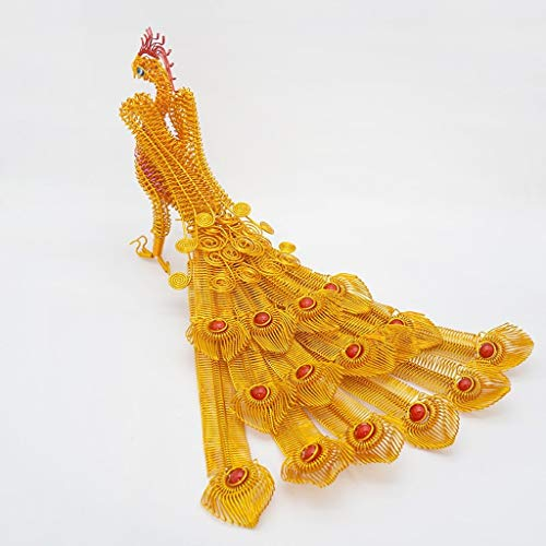Buy Bargain Home Decoration Phoenix Peacock Crafts Auspicious Ornaments Souvenir Gifts (Color : B)