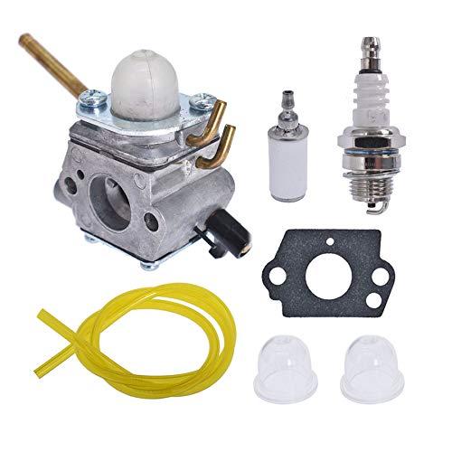 ALL-CARB Carburetor 308028007 Fits for Homelite UT-08520 UT-08921 UT-08550 UT-08951 26CC Blower with Fuel Line Filter Spark Plug