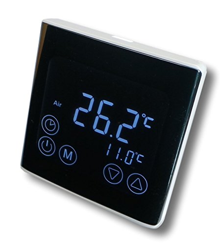SM-PC®, Raumthermostat Thermostat programmierbar LED Touchscreen Digital schwarz #a61