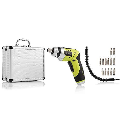 Akku-Stabschrauber mit Taschenlampen-Funktion 3,6V mit biegsamer Welle im praktischem Koffer B-WARE (Gelb)