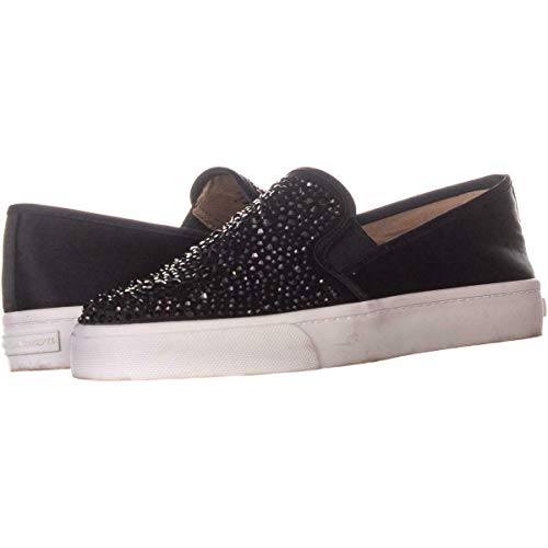 Price comparison product image INC International Concepts Womens Sammee2 Fabric Low Top Slip,  Black,  Size 7.0