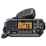 ICOM M330GE Transceptor VHF con Receptor GPS, Unisex Adulto, Negro