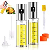 Anmyox Olive Oil Sprayer Set, 100ml 5 in 1 Oil Dispenser Glass Bottle for BBQ Salad Cooking Roasting Grilling...