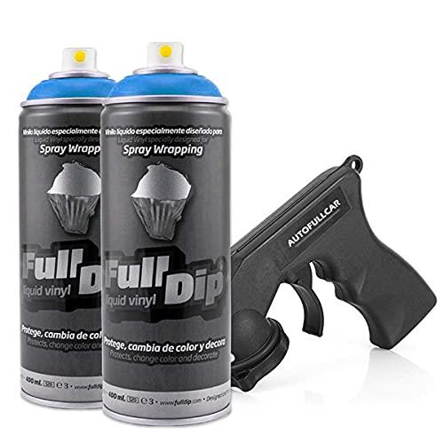 FULL DIP PACK 2 SPRAY Full Dip REGALO Adaptador Spray - TiendaFullDip.com (AZUL METALIZADO)