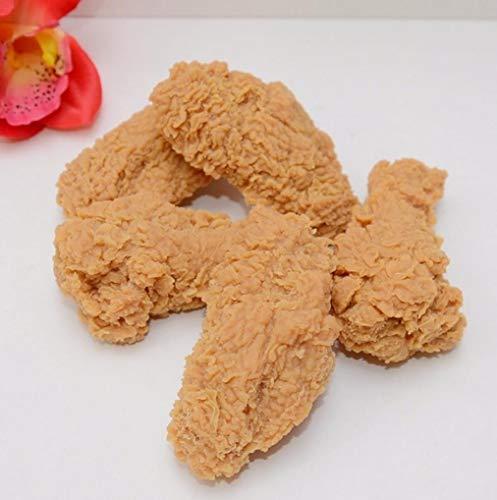 Yongse 1 STÜCKE Künstliche Gefälschte Fried Chicken Wing Lernen PVC Requisiten Home Shop Decor
