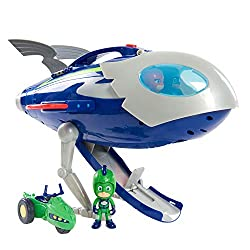 Gekko comes dressed in exclusive Super Moon space suit. Gekko has poseable arms and legs and can really ride his Space Rover. Push button to release the HQ Rocket's ramp and Gekko will launch out of the HQ Rocket on his Space Rover! Press button for ...