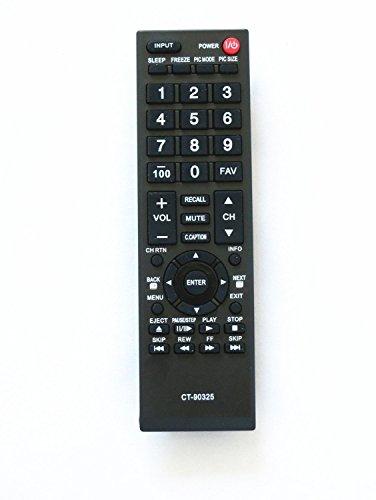 CT-90325 Remote Control Compatible for Toshiba TVs (Toshiba CT-90325, 75014374, 75022871)