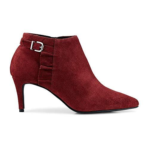Belmondo Damen Ankle-Boots Rot Leder 41