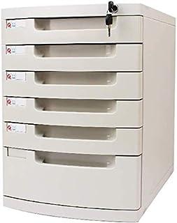 Classeurs WHLONG Bureau tiroir de Rangement de Documents Armoire de Rangement avec Serrure en Plastique Fichier de données...