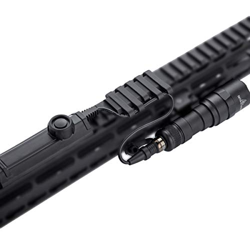 Rifle Weapon Light with Pressure Switch, Tactical Picatinny Flashlight Assembly