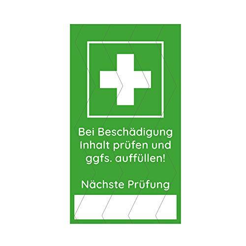Siegelaufkleber für Erste Hilfe Koffer und Betriebsverbandkasten, selbstklebendes Siegel (4,5 x 2,5 cm, 4 Stück)