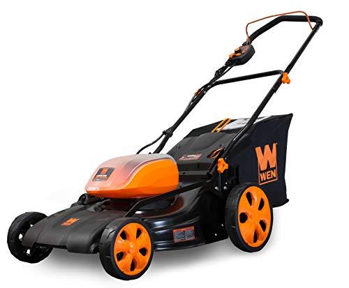 WEN 40439BT Lithium 16-Gallon Bag 40V Max Li-Ion 19-Inch Cordless 3-in-1 Lawn Mower (Tool Only), Black