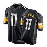 ZGRW Claypool Maillot de rugby pour homme Steelers 11 # Maillot de football américain 2020 Draft Game Jersey Maillot de joueur de jeu, respirant séchage rapide Vêtements de sport S